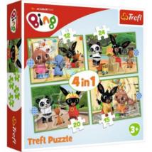 Bing Nyuszi és Barátai Puzzle 4 in 1