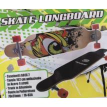 Fa Longboard Zöld Szem Mintával 102 cm-es