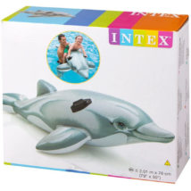Intex Delfin Alakú Lovagló Kapaszkodóval