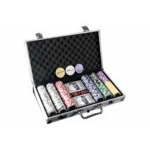 Alu bőröndös póker készlet 300 darab zsetonnal