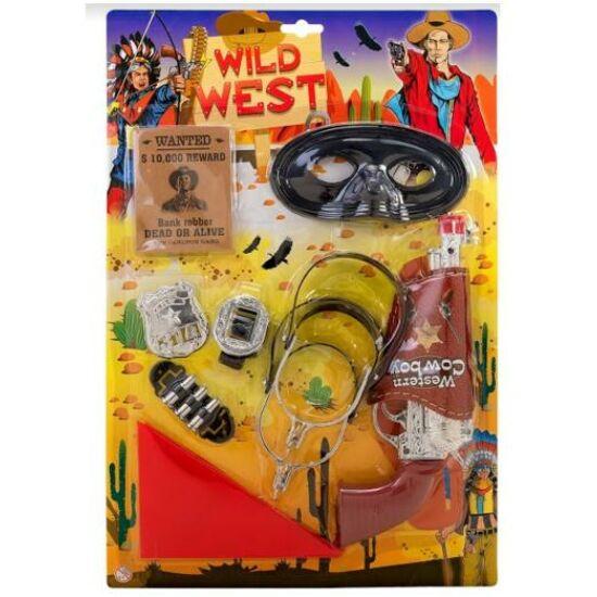 Wild West Cowboy szett, sarkantyúval