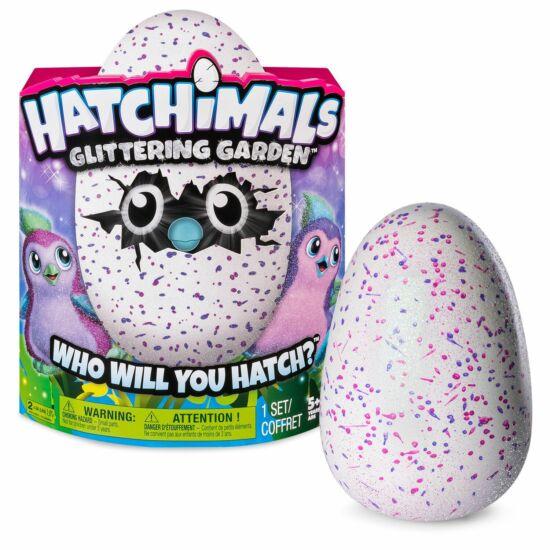 Hatchimals Glitter Garden: Csillogó Penguella rózsaszín tojásban
