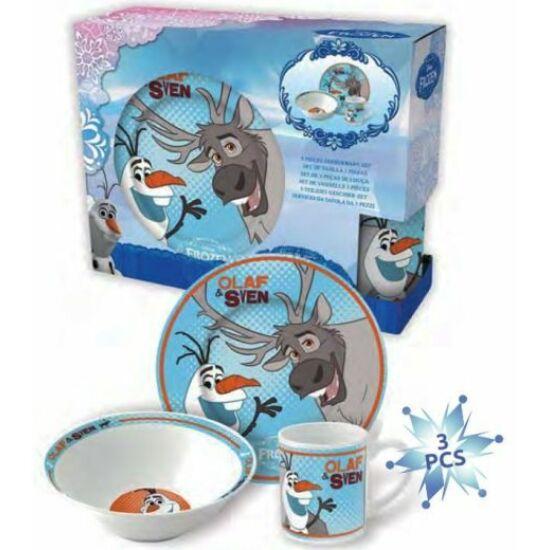 Jégvarázs porcelán étkészlet Sven és Olaf
