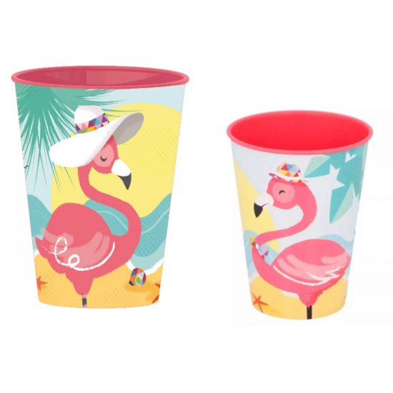 Flamingós Műanyag Pohár