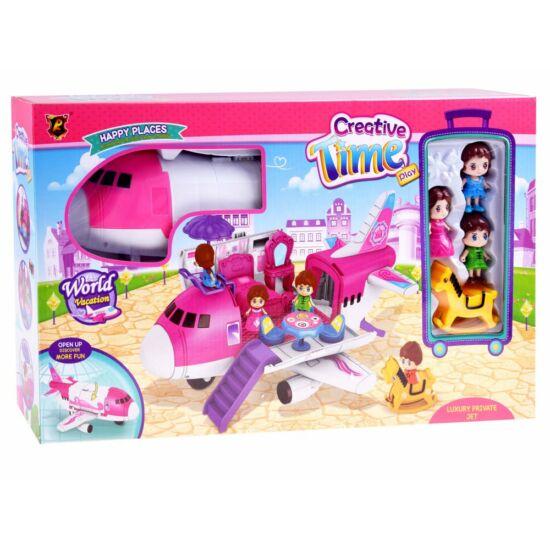 Lányos Játékrepülő Kiegészítőkkel és Figurákkal