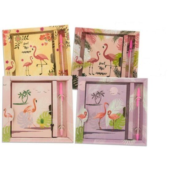 Flamingós Napló Tollal