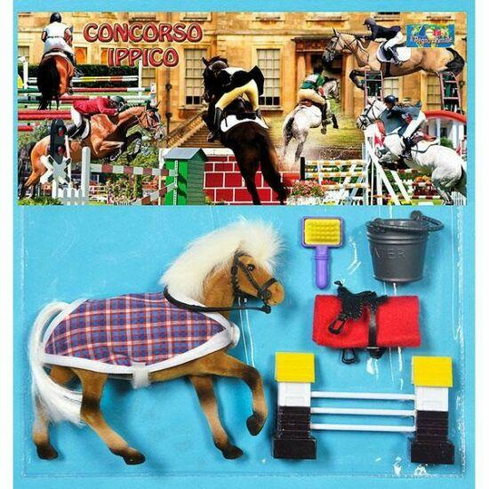 Flokkolt Teljesen Felszerelt Ló