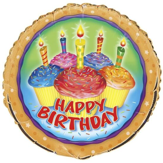 Happy Birthday Muffin Mintájú Fólialufi