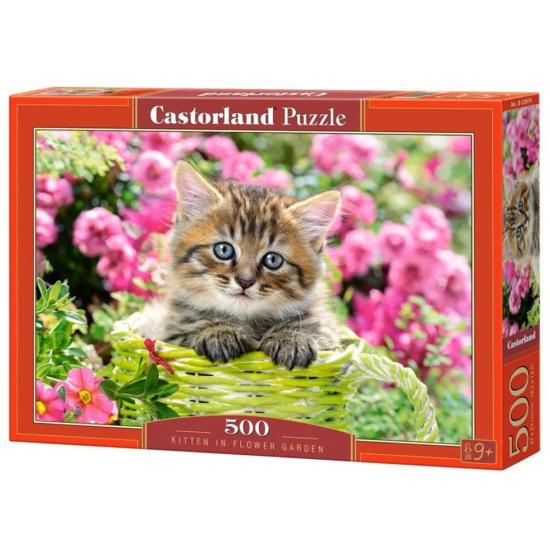 Castorland 500 db-os Puzzle - Cica a Virágos Kertben
