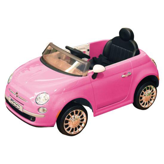 Elektromos Kisautó Fiat 500 - Rózsaszín