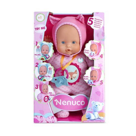 Nenuco Baba rózsaszín ruhában 5 funkcióval