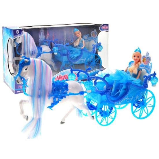 Kék Világító Lovashintó Babával