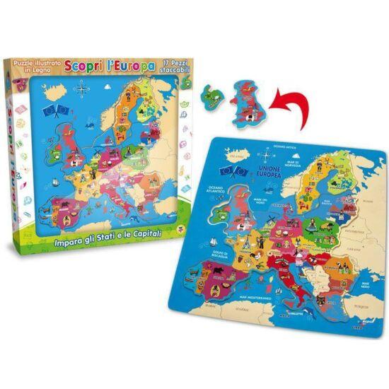 Fa Puzzle Európa