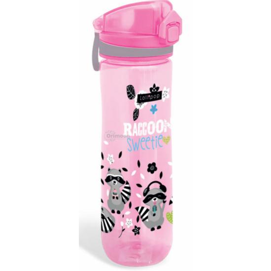 Rózsaszín Mosómacis Műanyag Kulacs 600 ml-es