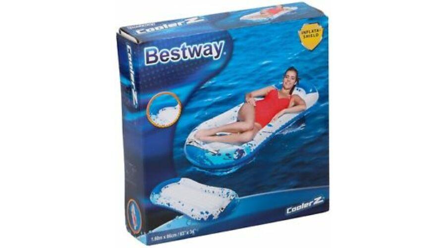 Bestway Felfújható Fehér Kék Matrac 160 x 86 cm - Strandcikkek 9856cca69e